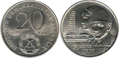 coin Germany DDR 20 mark 1979