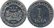 coin Central African States (CFA) 1 franc 2006