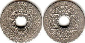 coin Morocco 25 centimes ND (1921)