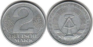 coin East Germany 2 mark 1957