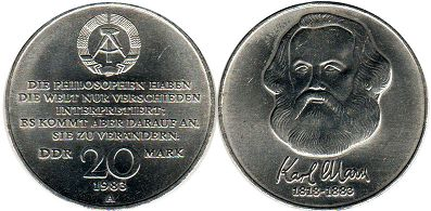 coin Germany DDR 20 mark 1983