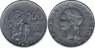 coin Italy 100 lire 1979