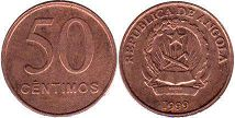 coin Angola 50 centimes 1999