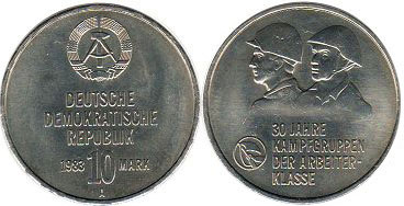 coin East Germany 10 mark 1983