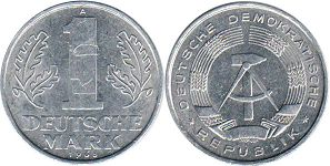 coin East Germany 1 mark 1963