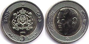 coin Morocco 5 dirhams 2002