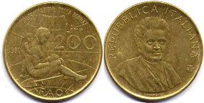 coin Italy 200 lire 1980