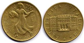 coin Italy 200 lire 1981