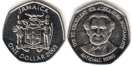 Value 1 Coin Jamaica Dollar 2003