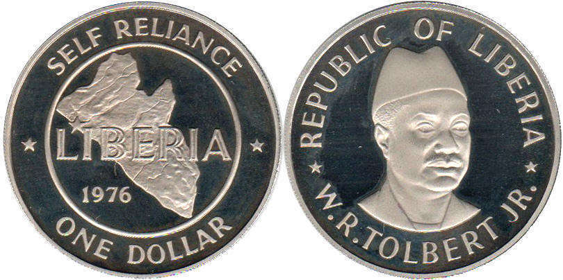 Liberian coins catalog with images and values, prices and photo pictures