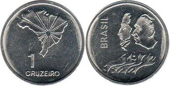 coin Brazil 1 cruzeiro 1972 Independence