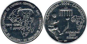 coin Cameroon 1500 francs 2006