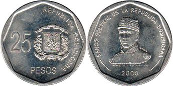 coin Dominican Republic 25 pesos 2008