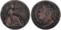 coin Great Britain farthing 1826