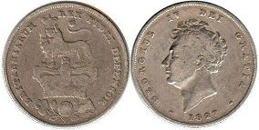 coin Great Britain shilling 1827