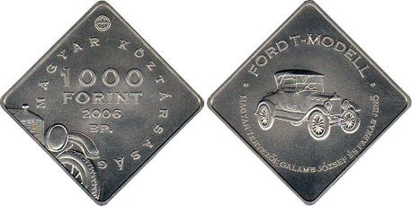 coin Hungary 1000 forint 2006 - Ford T-model