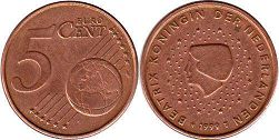 coin Netherlands 5 euro cent  1999