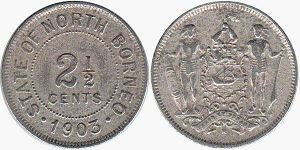coin British North Borneo 2,5 cents 1903