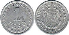 coin Paraguay 1 peso 1938