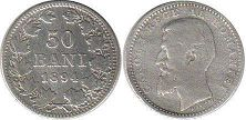 coin Romania 50 bani 1894