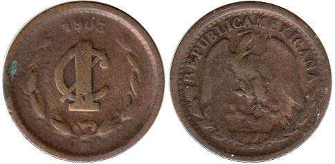 National arms Mexico 1938-1 Centavo Bronze Coin