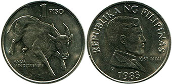 coin Philippines 1 piso 1983