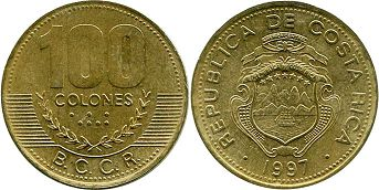 coin Costa Rica 100 colones 1997