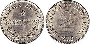 coin Costa Rica 2 centimos 1903