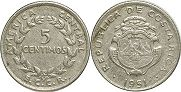 coin Costa Rica 5 centimos 1951