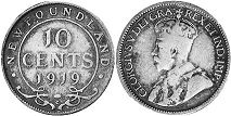 coin Newfoundland 10 cents 1919