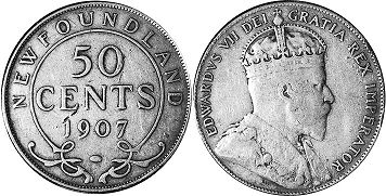 coin Newfoundland 50 cents 1907