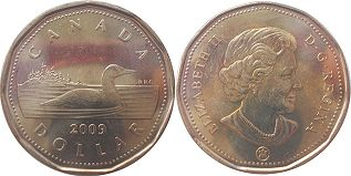 canadian coin 1 dollar 2009