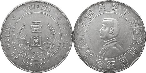 coin chinese silver dollar 1927