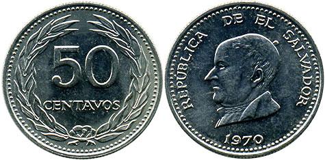 UNC 1942-1999 1-25 CENTAVOS 6 COINS FROM EL SALVADOR CENTRAL AMERICAN COINS