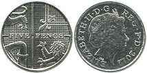 coin UK coin 5 pence 2012