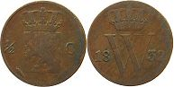 coin Netherlands 1/2 cent 1832
