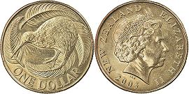 coin New Zealand 1 dollar 2005
