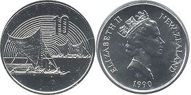 coin New Zealand 10 cents 1990