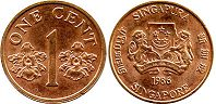 coin singapore1 cent 1986