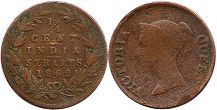 coin Straits Settlements 1/4 cent 1862
