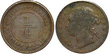coin Straits Settlements 1/4 cent 1898
