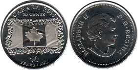 coin canadian commemorative coin 25 cents 2015