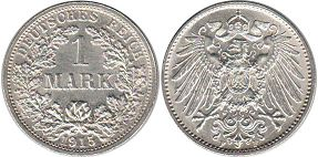 coin Germany 1 mark 1915