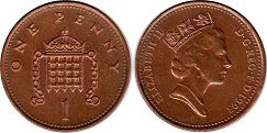 coin Great Britain 1 penny 1993