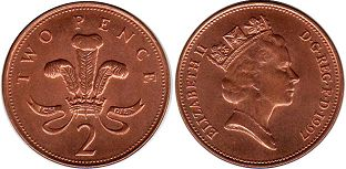 coin Great Britain 2 pence 1997
