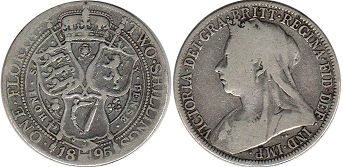 coin Great Britain one florin 1895