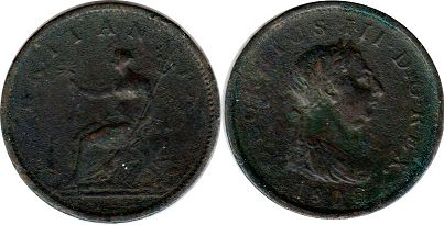 coin Great Britain 1 penny 1806