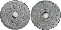 coin Luxemburg 5 centines 1915