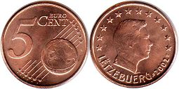 coin Luxemburg 5 euro cents 2002