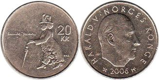 coin Norway 20 crone 2006